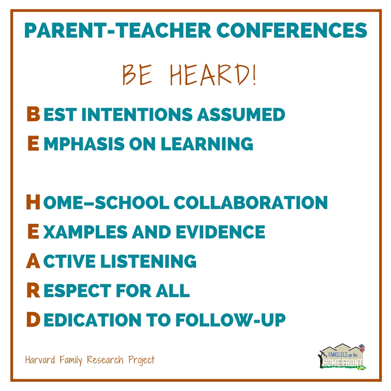 Be Heard! Parent-Teacher Conferences